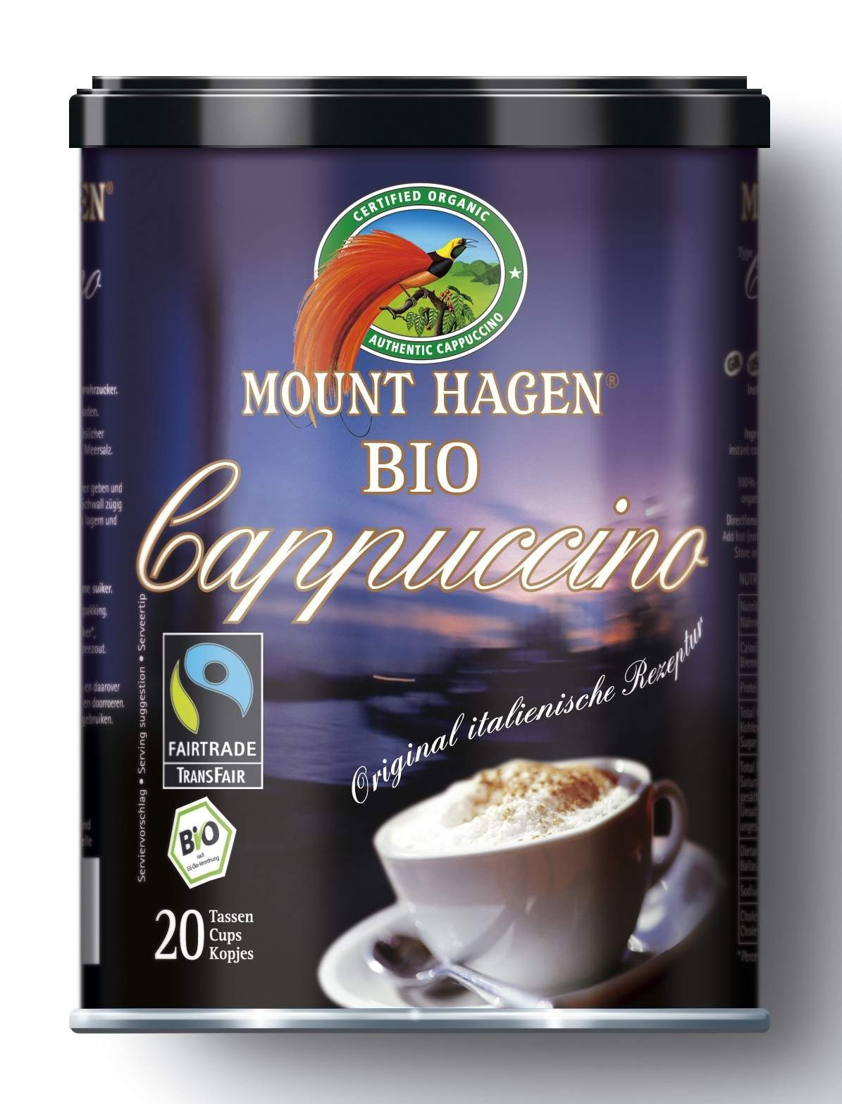 BIO cappuccino Fair Trade, doboz 200 g